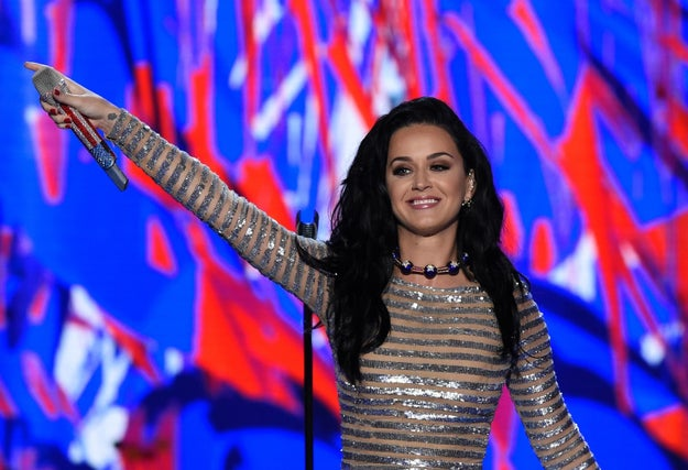 Orlando Bloom Was Katy Perry's Stage Mom At The DNC
