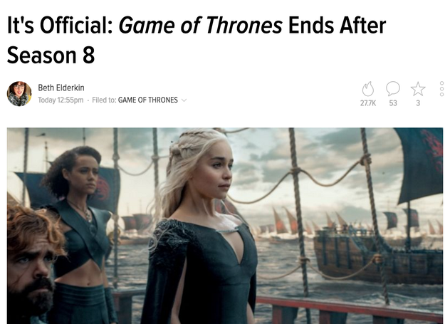 Which led a lot of people to report that Season 8 will be the last of the series.