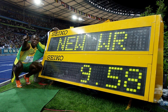 Jamaican sprinter Usain Bolt in Berlin, Germany, in 2009.