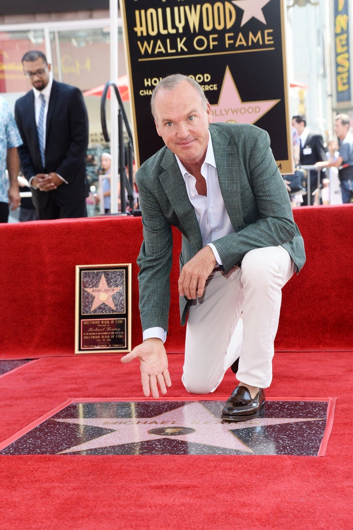 HOLLYWOOD, CA - JULY 28: Actor Michael Keaton attends his Hollywood Walk of Fame Star Ceremony hosted by The Weinstein Company on July 28, 2016 in Hollywood, California. (Photo by Matt Winkelmeyer/Getty Images for The Weinstein Company)