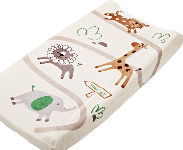 An utterly adorable, machine-washable changing pad cover.