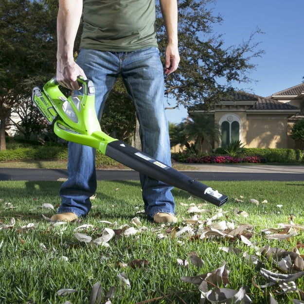 A cordless speed sweeper for cleaning up your leaf-strewn driveway.