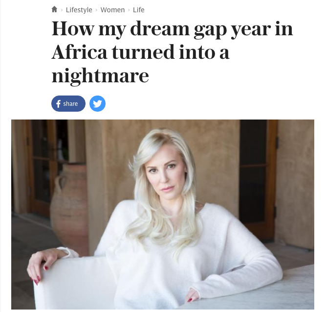 Linton is a Scottish-born actress and producer who currently lives in Los Angeles. Her online biography says she has degrees in journalism and law. She self-published her memoir, In Congo's Shadow, in April.