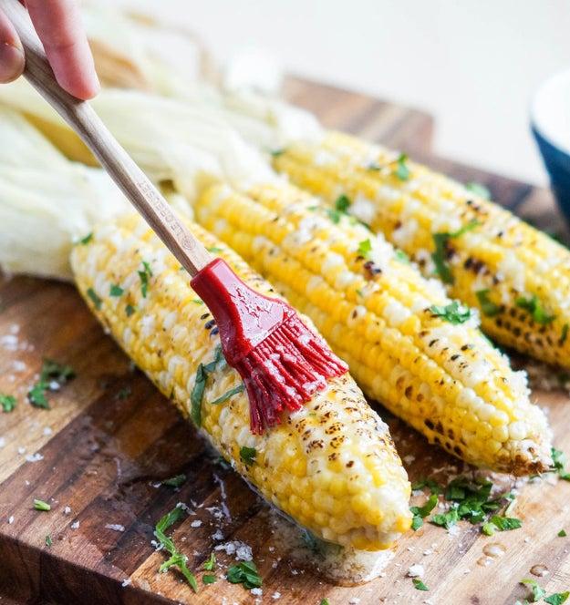 Roasted Garlic Grilled Corn