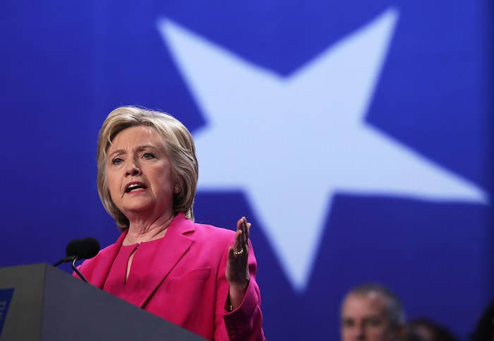 Clinton speaking Tuesday in Washington, D.C.