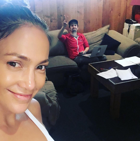 Check out this adorable selfie, posted by JLo, of two Puerto Rican superstars (and national treasures) getting it DONE!