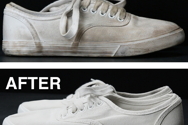 Finally There S An Easy Way To Clean Off Your White Shoes Make Them Look Brand New Again