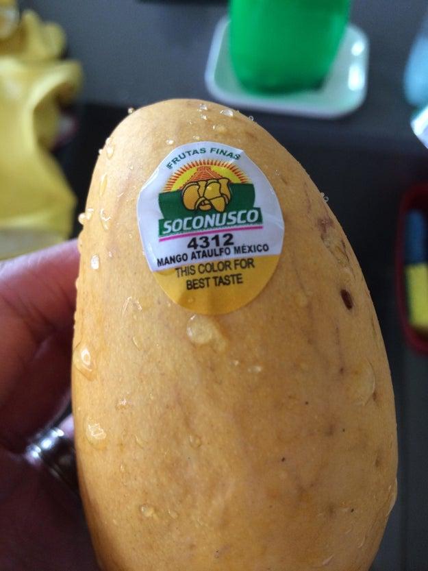 Un mango que te dice cuando está maduro.