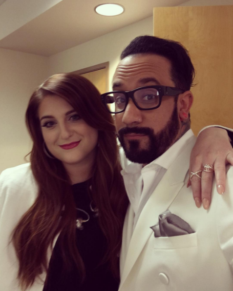 A while back, Meghan Trainor posted a shot with Backstreet Boy A.J. McLean, proving she is just like the rest of us at heart: a huge BSB fangirl.