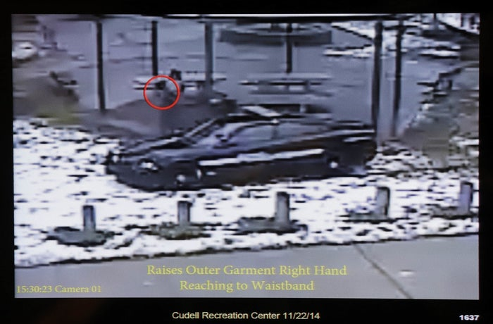 Still image taken from a surveillance video when Tamir Rice was fatally shot by a Cleveland police officer on Nov. 22, 2014.