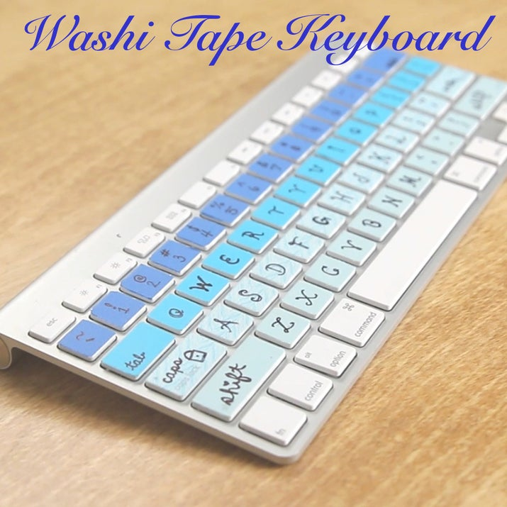 Diy Washi Tape this diy washi tape keyboard is literally the cutest thing ever