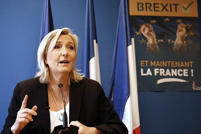 Marine Le Pen, leader of French far-right party Front National