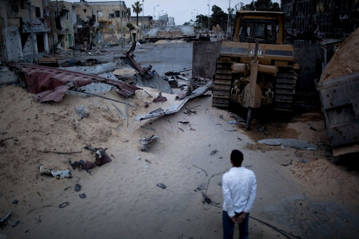 The Libyan city of Misrata, a battleground between rebels and Qaddafi forces, in May 2011.