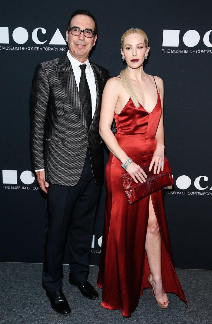Steven Mnuchin and Louise Linton at the MOCA Gala, Los Angeles, on 14 May 2016