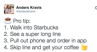 Use your phone to skip the line: