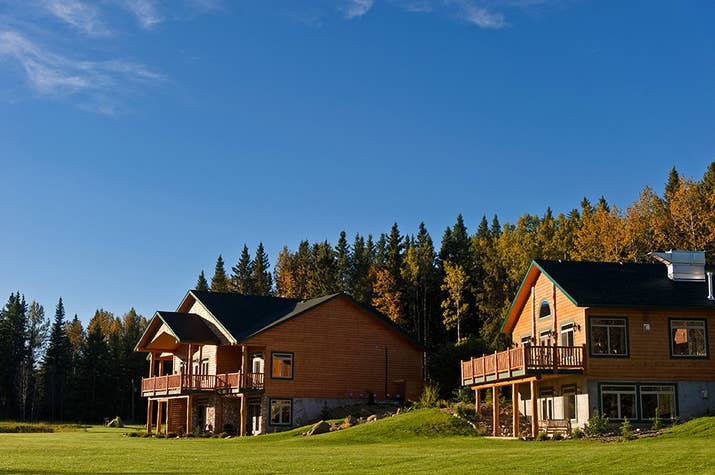 For a romantic, luxurious getaway, check out The Prairie Creek Inn, tucked away in the woods of Central Alberta.