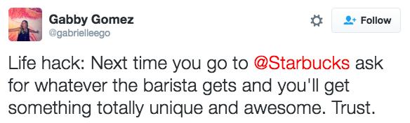 Trust the barista: