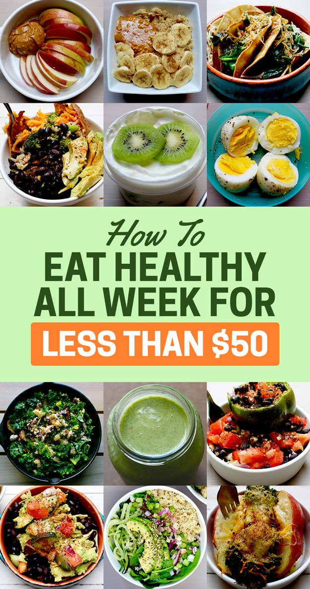 Heres how to eat healthy for a week with just 50 share on facebook share forumfinder Image collections