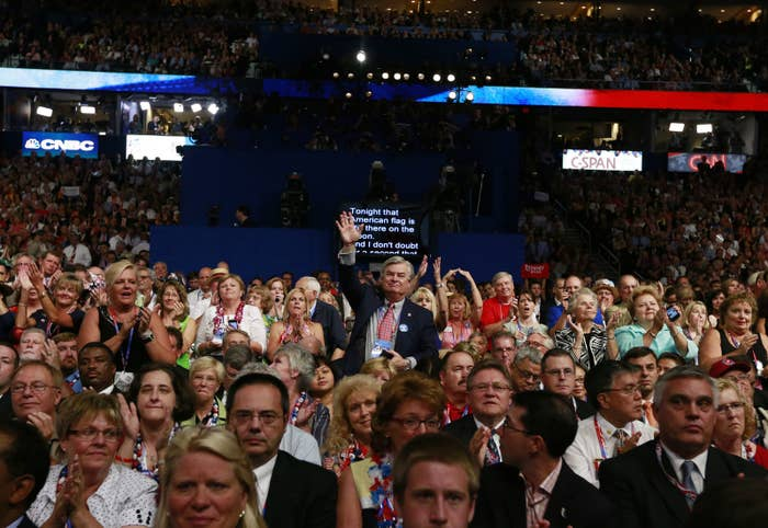Delegates at the 2012 Republican National Convention.