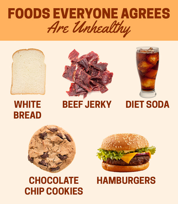 And everyone seemed to more or less agree that certain foods are unhealthy.