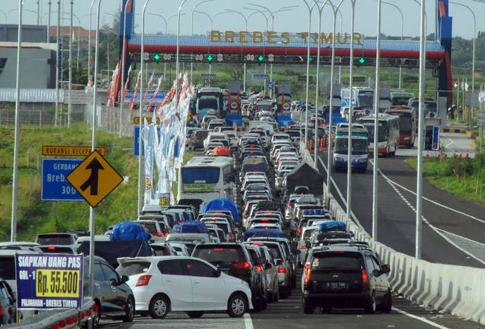 """Officials say most of the victims were elderly, according to BBC News. The deaths were likely caused by a combination of dehydration and fatigue, although one death was attributed to poisoning from exhaust fumes.The deaths took place at a chokepoint in the city of Brebes on the island of Java. The jam at the Brebes exit, which locals have dubbed """"Brexit,"""" caused gridlock stretching back for 13 miles."""