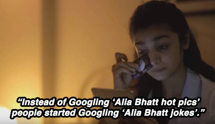 When Bhatt was the butt of the internet's jokes for a general knowledge gaffe on Koffee With Karan, she teamed up with All India Bakchod to release a video about her fictional quest for intelligence.