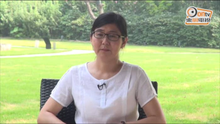 """People close to Wang have been unable to contact her, but Hong Kong's Oriental Daily somehow managed to speak to Wang, who is reportedly free on bail, on the lawn of a restaurant in Tianjing.Wang told Oriental Daily she and her colleagues were trained by foreign organizations to interfere rights cases and to """"mess up"""" China. And she said her son, who was stopped by Chinese authority at Beijing International Airport en route to attend high school in Australia, was taken hostage by these unnamed foreign organizations to attack the Chinese government. The son has been under house arrest since the arrest of both his parents. Wang's husband was also a human rights lawyer.She also used the same language the Chinese government has recently begun using to reject a European human rights award, saying she """"won't acknowledge, won't recognize, and won't accept"""" the award.Wang has been held without trial since July last year.Forced TV confessions have become fashionable for Chinese authorities looking to silent dissidents. Other recent confessors include a Hong Kong bookseller who sold political satires and a Swedish human rights worker. Both have spoken out on what really happened after they left China."""