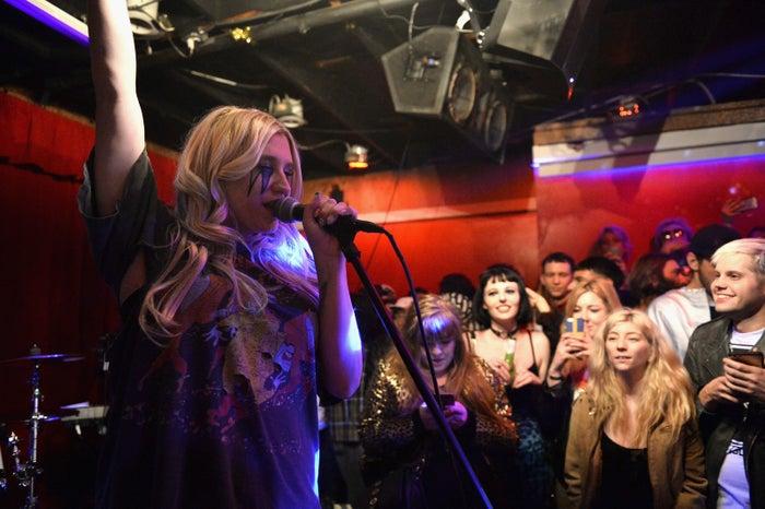 Kesha performs in Los Angeles in February.
