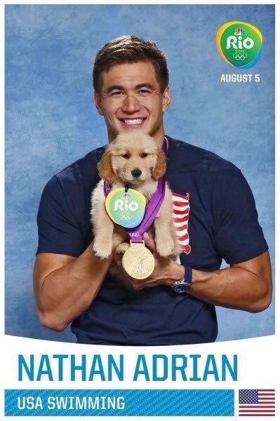 Ahead of the Olympics, American athletes posed with puppies to bring awareness to thousands of animals in shelters still looking for a home.