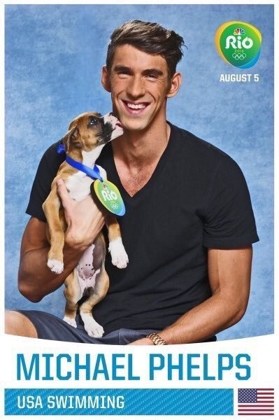 So without further ado, here are your US Olympians + puppies: