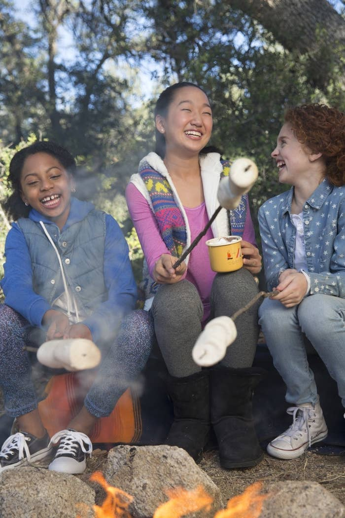 According to a press release, this cookie season marks 100 years of Girl Scouts selling cookies. Girl Scouts have historical ties to s'mores — enjoying s'mores by the campfire was first popularized by Girl Scouts as early as the 1920s.