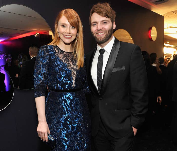 Bryce Dallas Howard at the 2016 Golden Globes with husband Seth Gabel.