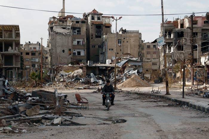 首都ダマスカス東部=2016年2月