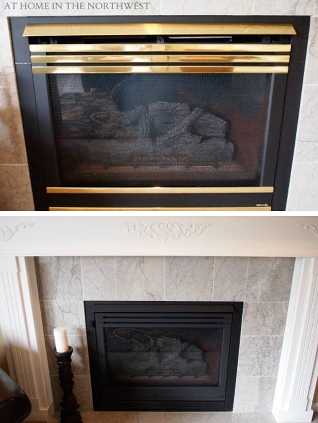 Fireplace Design high heat fireplace paint : 31 DIY Projects That Will Make Your House Look Amazing