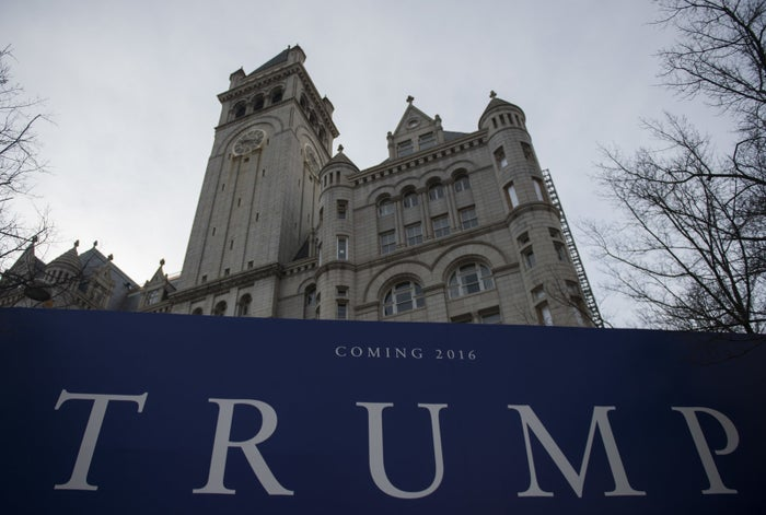 The Old Post Office building in Washington, DC, on March 10, 2016 which will become Trump International Hotel Washington.