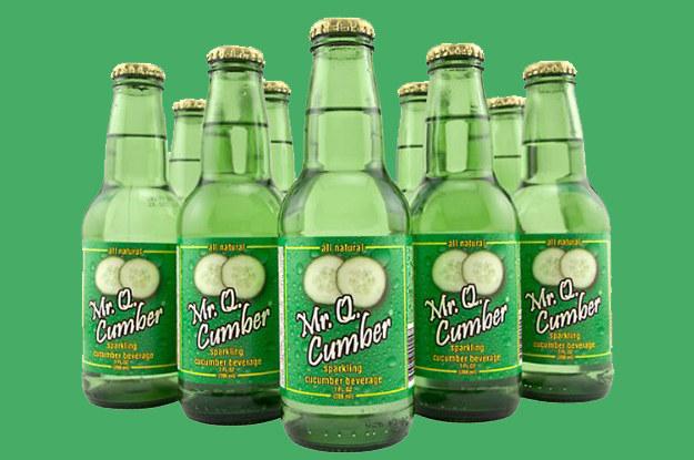 Mr. Q Cumber Soda is made water, sugar and cucumber. A gourd-eous soda.