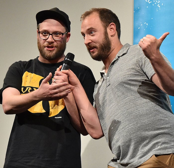 Seth Rogen and Evan Goldberg at the Sausage Party work-in-progress screening during the 2016 SXSW Film Festival on March 14, 2016.