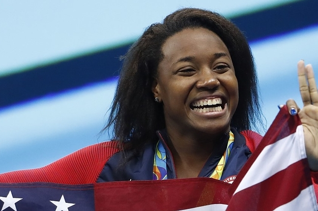 The Moment Simone Manuel Realized She'd Won Gold Is Absolute Magic