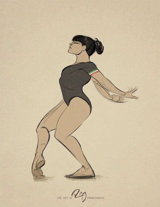 Para Ramiro Tamez, la danza y el cuerpo humano siempre han inspirado al dibujo.
