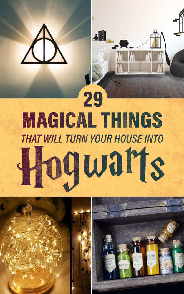 29 magical things that will turn your house into hogwarts for Buzzfeed room decor quiz