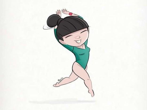 Éste es el homenaje que hizo el monero Qucho Moreno a la gimnasta mexicana.