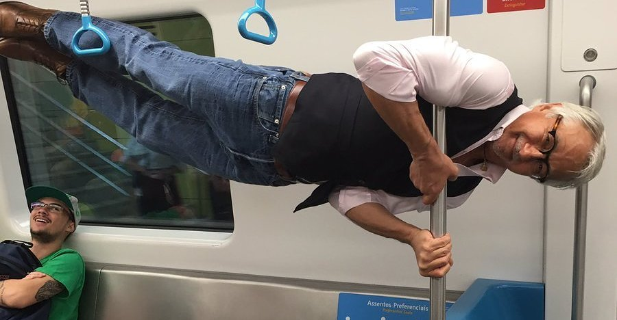 Everyone's Obsessed With This Grandpa's Sick Subway Tricks