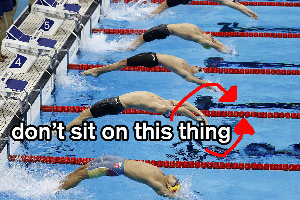 OK, So If Youu0027ve Ever Spent Any Amount Of Time Around A Pool, You Know One  Of The Major Rules Is NO SITTING ON THE LANE LINE.