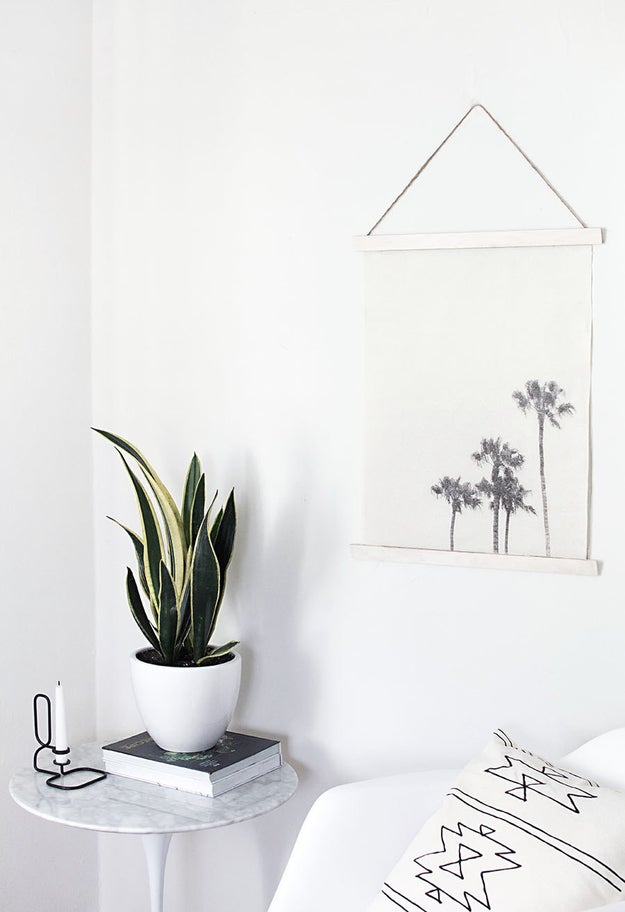 Make a fabric wall hanging using a photo from your last vacation.