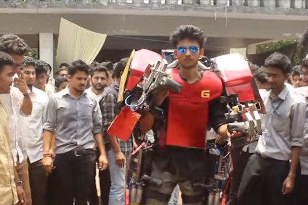 An Indian Engineering Student Built A 220 Pound, Wearable Iron Man Suit 'Cause Why The Fuck Not