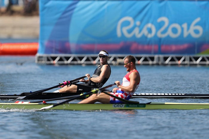 Drysdale won gold in the men's single sculls in 2012, making him the defending champion. But Martin also won gold at the 2012 Olympics in the quadruple sculling event. By the last 500 meters of the race on Saturday, Martin had a clear lead, but Drysdale began inching up on the Croatian as they got closer to the finish line.