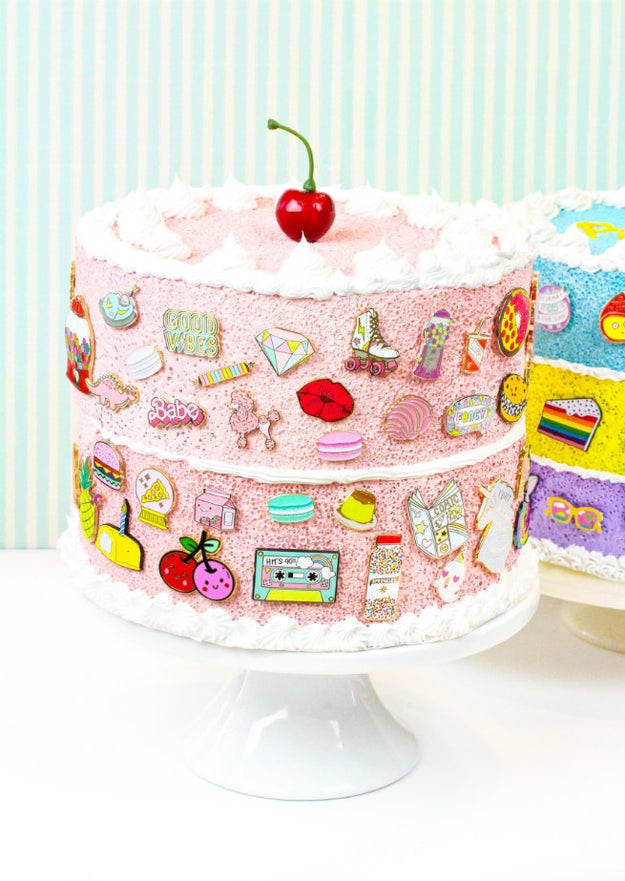 Or make a layer cake to display your pin collection on.