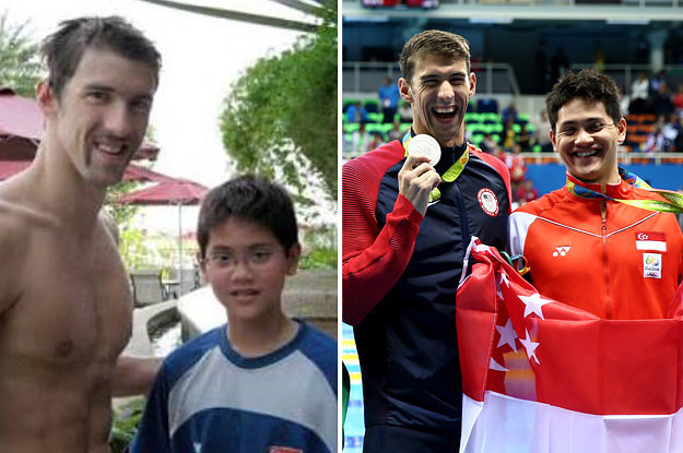 Joseph Schooling Beat His Childhood Hero Michael Phelps At The Olympics
