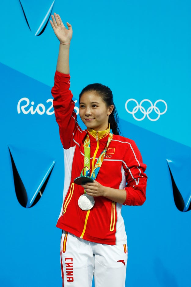And what happened at the end of her medal ceremony was also pretty exciting.