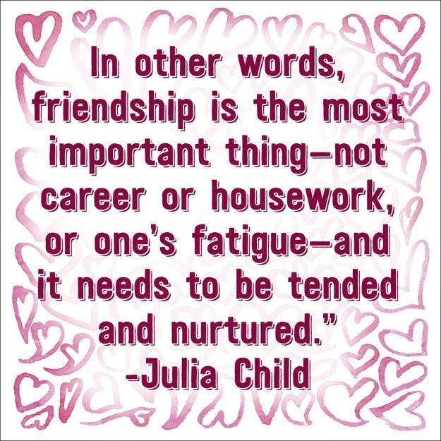 On friendship: